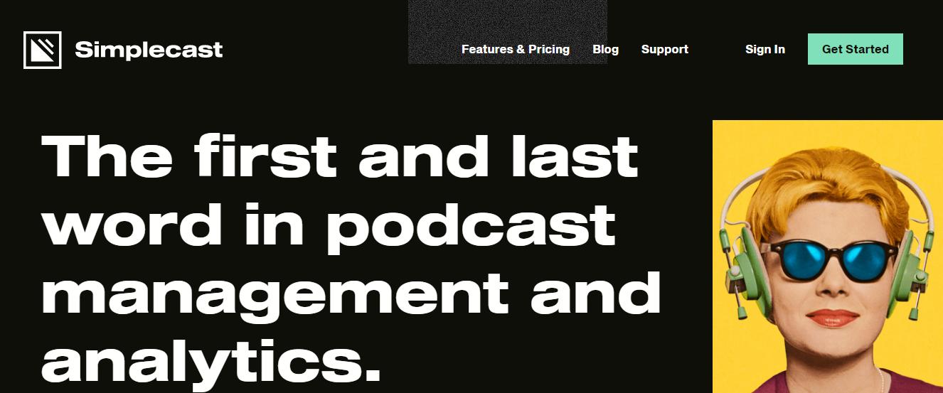 Simplecast Podcast Hosting (Homepage Screenshot)