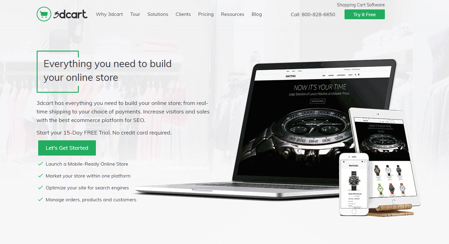 3dcart Homepage Screenshot