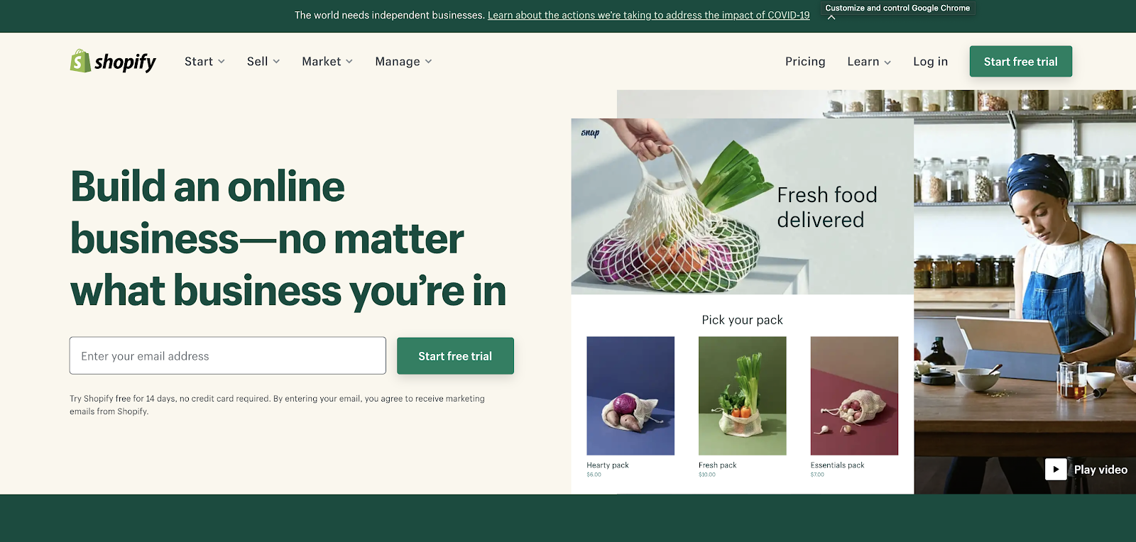 Shopify eCommerce Website Builders (Homepage Screenshot) Explainer