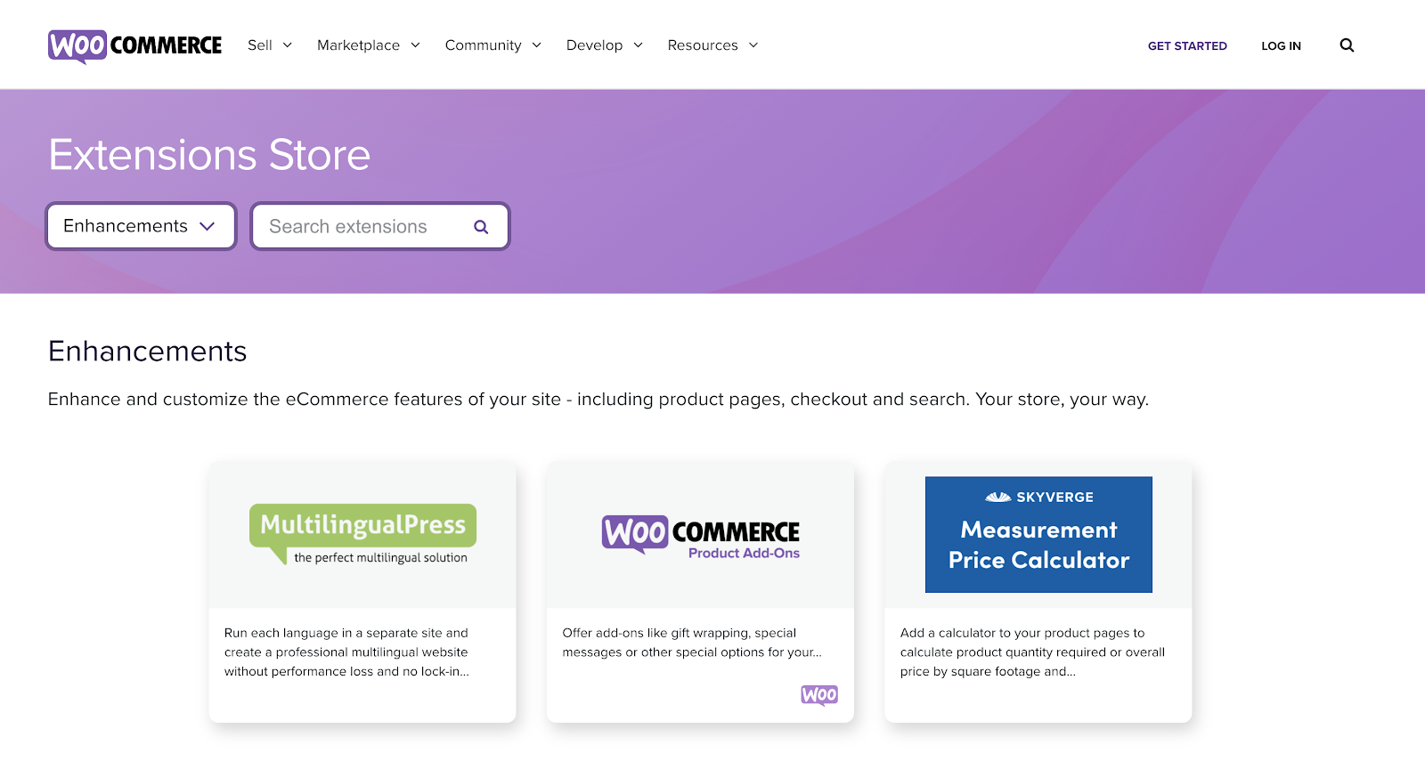 WooCommerce eCommerce Website Builder Extension Store (Screenshot)