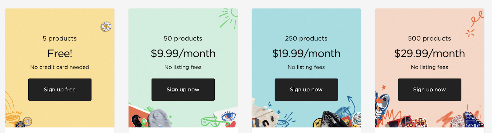 Pricing Plans for Big Cartel's Indie eCommerce Website Builder