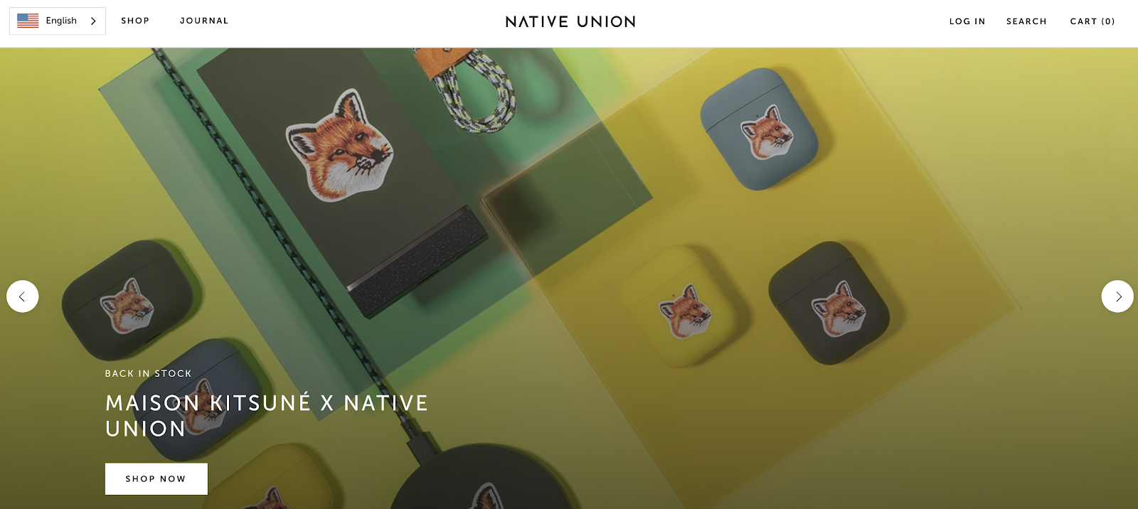 Native Union eCommerce Website Example (Screenshot)