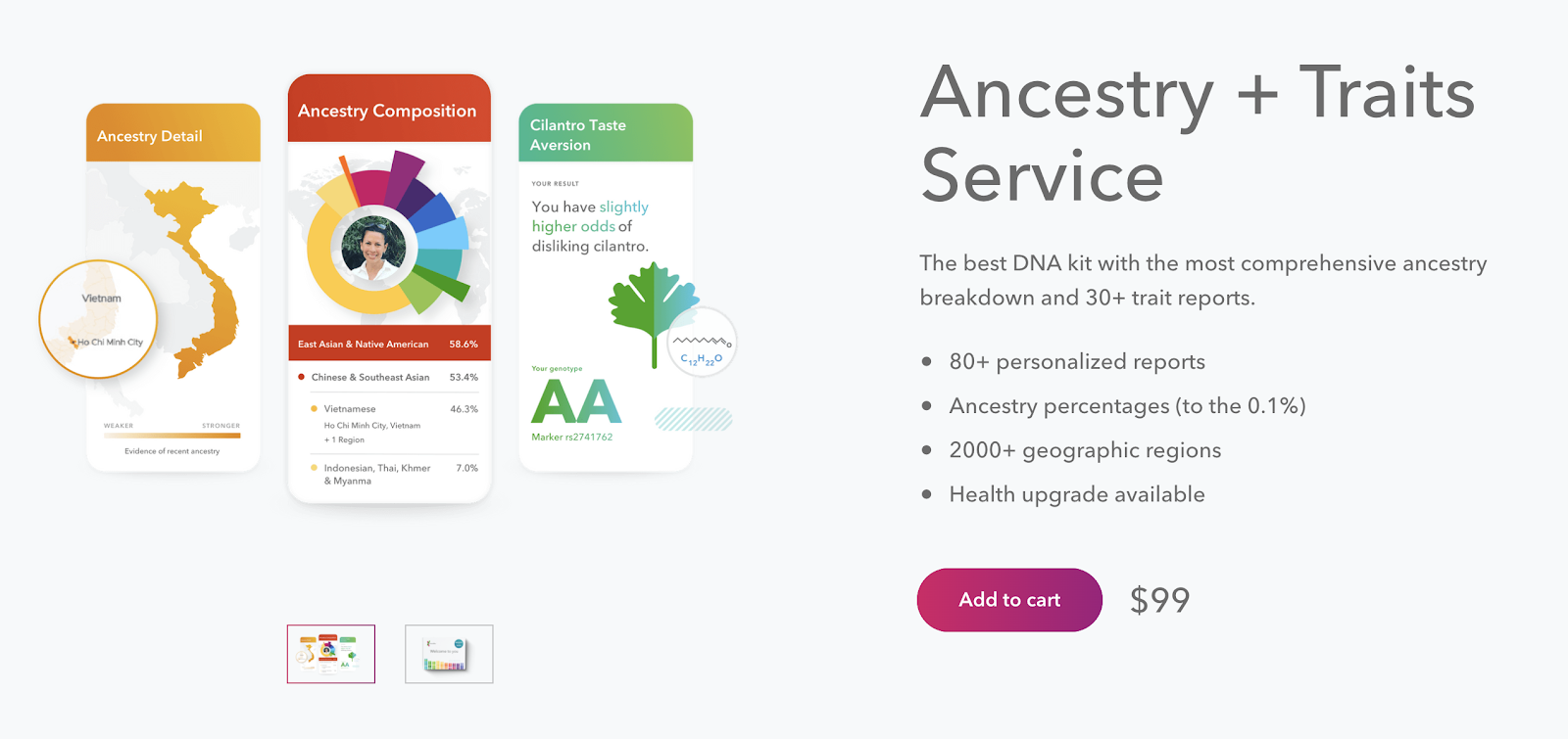 23 and Me Ancestry Product Description Example