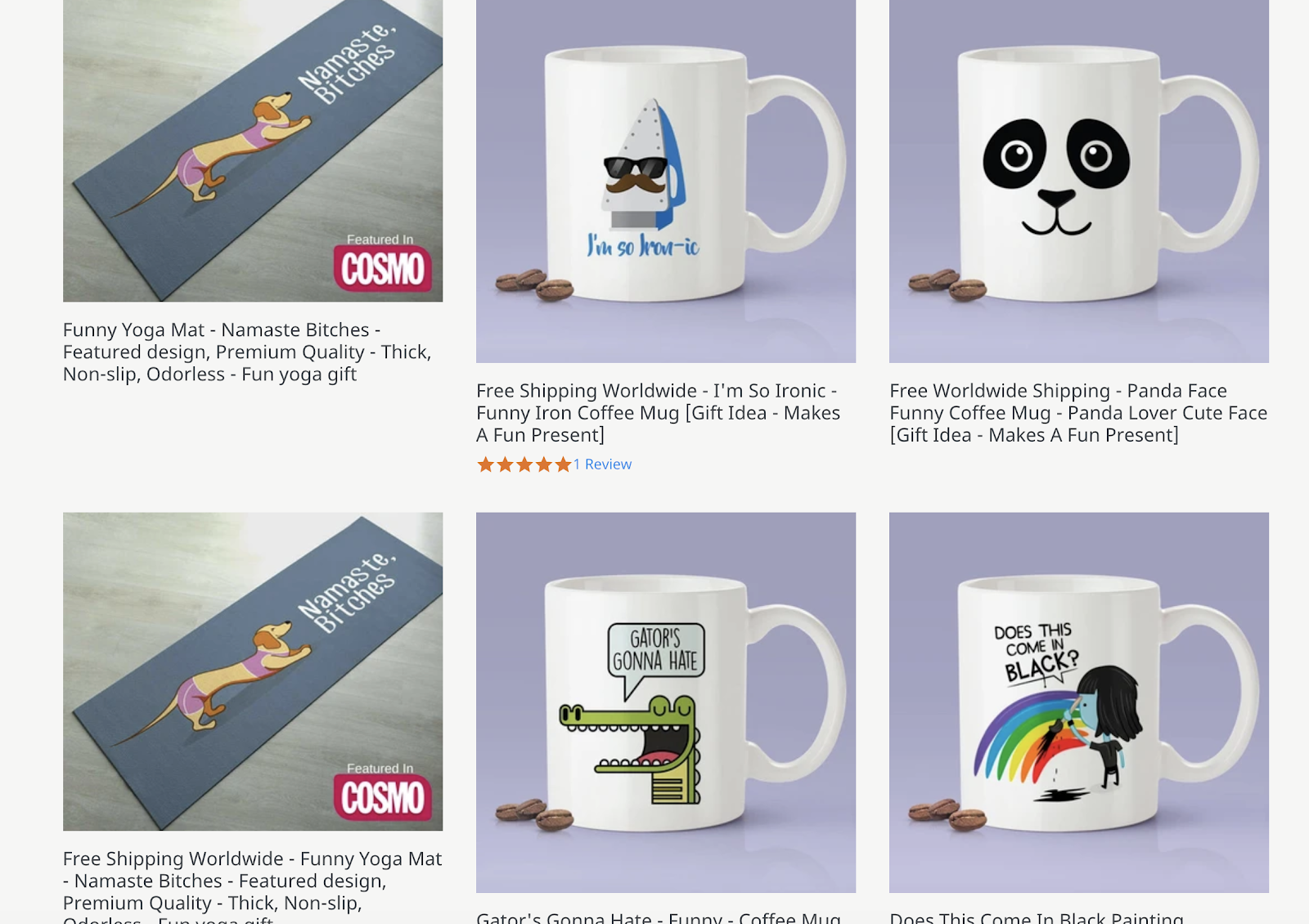 Blogger eCommerce Product Descriptions (Screenshot)