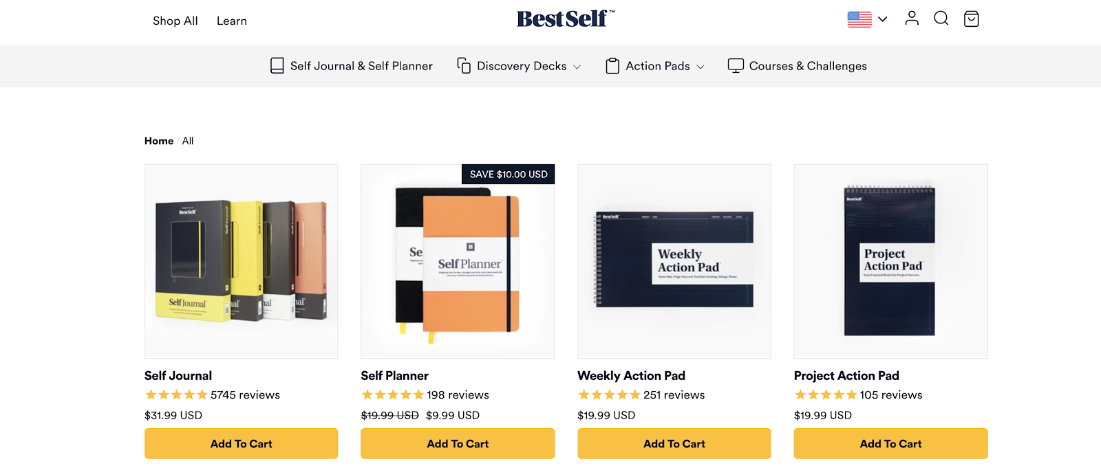 BestSelf eCommerce Website Example (and Blog)