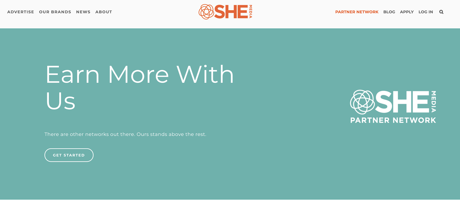Sign up Process for the SHE Media Partner Network